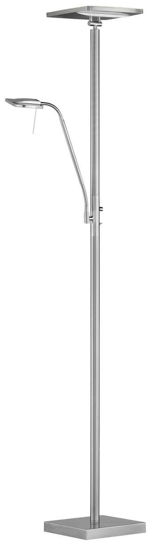 DECKENLEUCHTE - Nickelfarben, Basics, Metall (25/180/25cm)