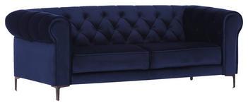 ZWEISITZER-SOFA in Textil Blau  - Blau/Schwarz, Trend, Textil/Metall (195/75/90cm) - Carryhome