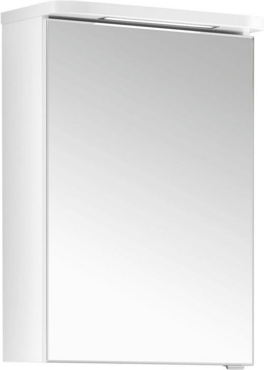 SPIEGELSCHRANK - Weiß, Design, Glas/Holzwerkstoff (50/73/18cm) - Xora