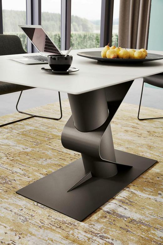 ESSTISCH rechteckig Anthrazit, Weiß - Anthrazit/Weiß, Design, Keramik/Metall (180/100/77cm) - Musterring