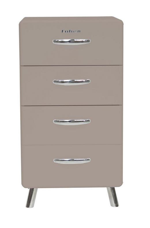 KOMMODE Grau - Chromfarben/Grau, Design, Metall (56/92/43cm) - Carryhome