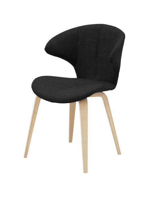 STUHL Kerneiche Dunkelgrau - Dunkelgrau/Eichefarben, Design, Holz/Textil (53/79/53cm) - Carryhome