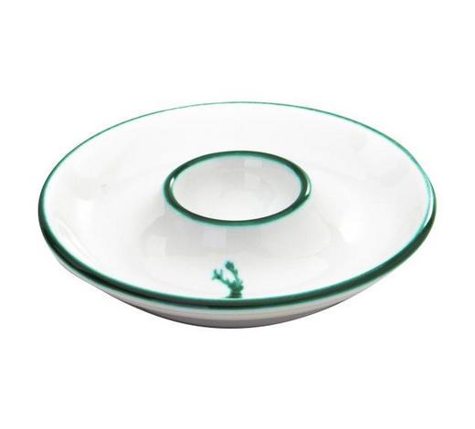 EIERBECHER Keramik  - Weiß/Grün, LIFESTYLE, Keramik (12cm) - Gmundner
