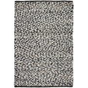 HANDWEBTEPPICH 130/200 cm - Schwarz/Weiß, Basics, Textil (130/200cm) - Linea Natura