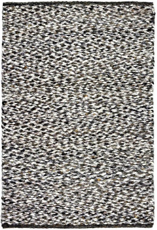 HANDWEBTEPPICH - Schwarz/Weiß, Basics, Textil (130/200cm) - Linea Natura