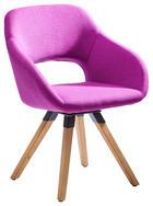 STUHL Textilgeflecht Eichefarben, Violett - Eichefarben/Violett, Design, Holz/Textil (62/83/59cm) - Valnatura