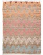 ROČNO TKANA PREPROGA ZIGZAG  65/135 cm   rjava, večbarvno, naravna, oranžna, bela, svetlo modra, bež  - naravna/svetlo modra, Basics, tekstil (65/135cm) - Tom Tailor