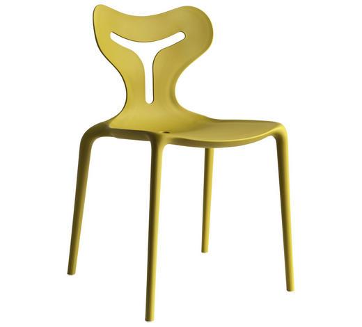 STUHL in Kunststoff Gelb - Gelb, Trend, Kunststoff (50,5/80/50cm)