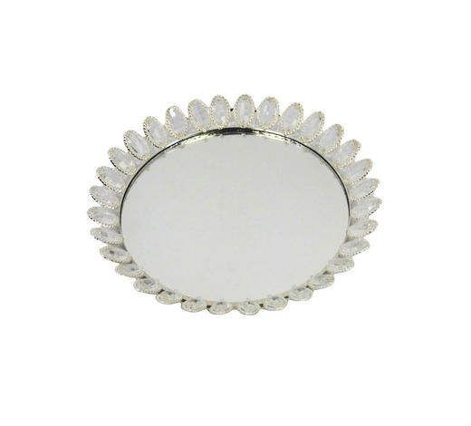 DEKOTABLETT - Silberfarben, Basics, Glas/Metall (30,5/5cm) - Ambia Home