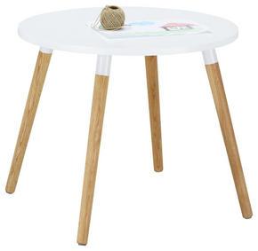 BARNBORD - vit/ekfärgad, Modern, trä/träbaserade material (60/46/60cm) - Carryhome