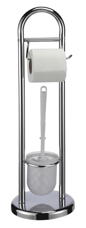 WC-BÜRSTENGARNITUR - Weiß, Basics, Kunststoff (19/65cm)