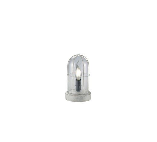 TISCHLEUCHTE - Grau, Basics, Glas/Metall (12,5/22cm)