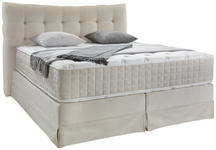 Boxspringbett Domino ca. 180/200cm, Creme - Beige, KONVENTIONELL, Holz (180/200cm) - James Wood
