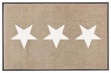 FUßMATTE 40/60 cm Sandfarben, Weiß - Sandfarben/Weiß, Basics, Kunststoff/Textil (40/60cm) - Esposa