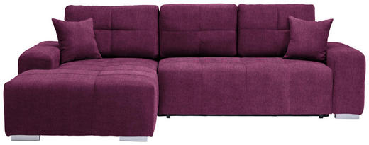 WOHNLANDSCHAFT in Textil Beere - Beere/Silberfarben, MODERN, Kunststoff/Textil (194/280cm) - Carryhome