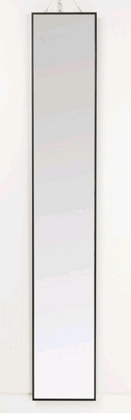 WANDSPIEGEL Schwarz - Schwarz, MODERN, Glas/Metall (30/180/3cm) - Kare-Design