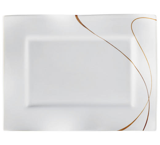 PLADENJ SCALA, 25,5/35 CM - bela/rjava, Konvencionalno, keramika (25,5/35cm) - Ritzenhoff Breker