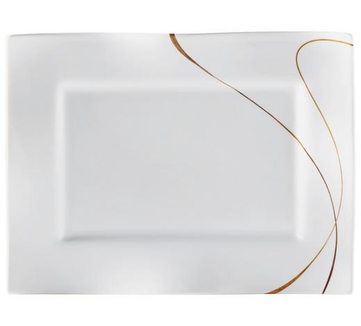 PLATTE 25,5X35CM - Braun/Weiß, Design, Keramik (25,5/35cm) - Ritzenhoff Breker