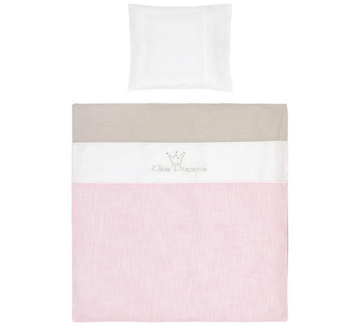BABYBETTWÄSCHE 100/135 cm - Rosa/Weiß, Basics, Textil (100/135cm)