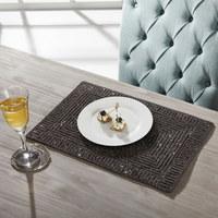 PLATZDECKCHEN Metall, Glas Schwarz 30/45 cm  - Schwarz, Basics, Glas/Metall (30/45cm) - Ambia Home