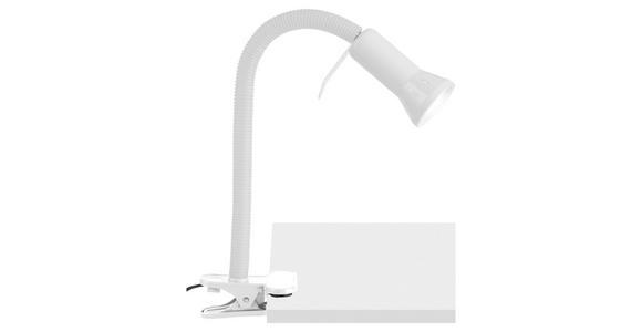 KLEMMLEUCHTE - Weiß, LIFESTYLE, Kunststoff/Metall (6,2/52cm) - BOXXX