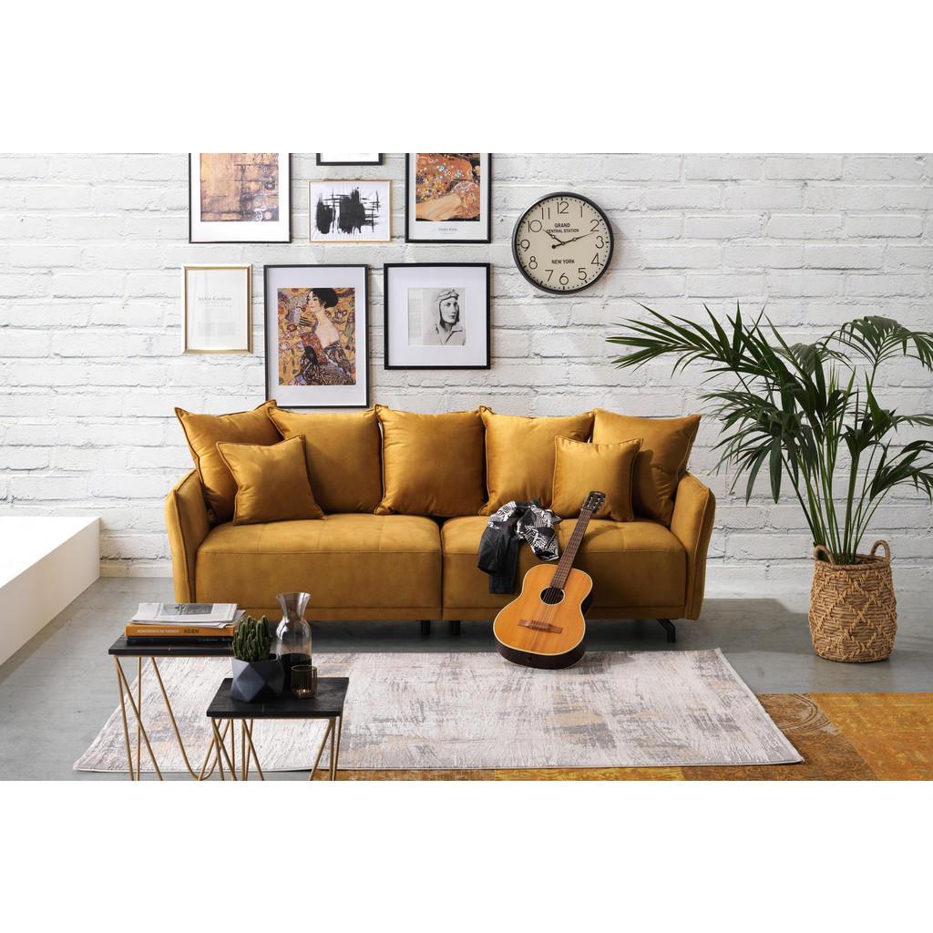 Carryhome Megasofa in textil gelb