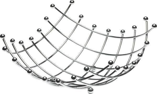 KOŠARICA ZA SADJE - srebrna, Konvencionalno, kovina (34/34cm) - JUSTINUS