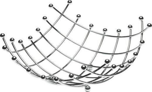 OBSTKORB - Silberfarben, Basics, Metall (34/34cm) - JUSTINUS