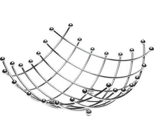 SKLEDA ZA SADJE LIFESTYLE - srebrna, Konvencionalno, kovina (34/34cm) - Justinus