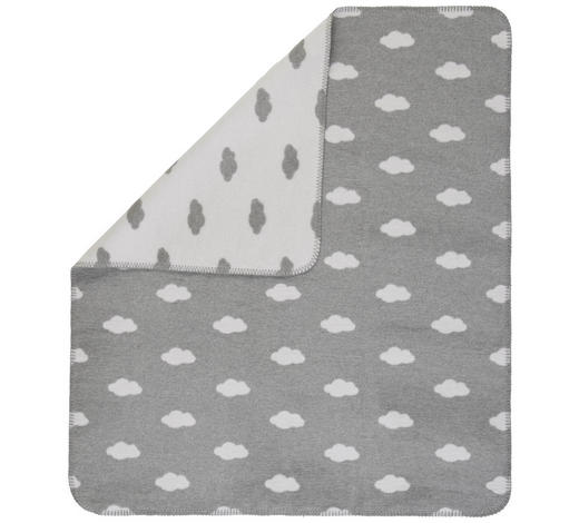SCHMUSEDECKE 75/100 cm - Hellgrau/Weiß, Trend, Textil (75/100cm) - Patinio