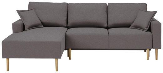 WOHNLANDSCHAFT in Textil Grau - Buchefarben/Grau, Design, Holz/Textil (146/223cm) - Xora