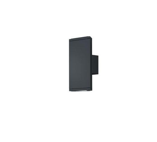 WANDLEUCHTE - Anthrazit, Design, Kunststoff/Metall (9/20cm)