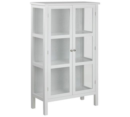 VITRINE  in Weiß - Silberfarben/Weiß, LIFESTYLE, Glas/Holzwerkstoff (80/136,5/35,5cm)