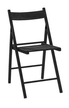 KLAPPSTOL - svart, Basics, trä (39,5/77,5/52cm) - Mömax modern living