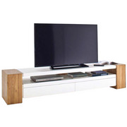 TV-ELEMENT bela, rjava - bela/rjava, Design, leseni material/les (200/40/40cm) - Xora