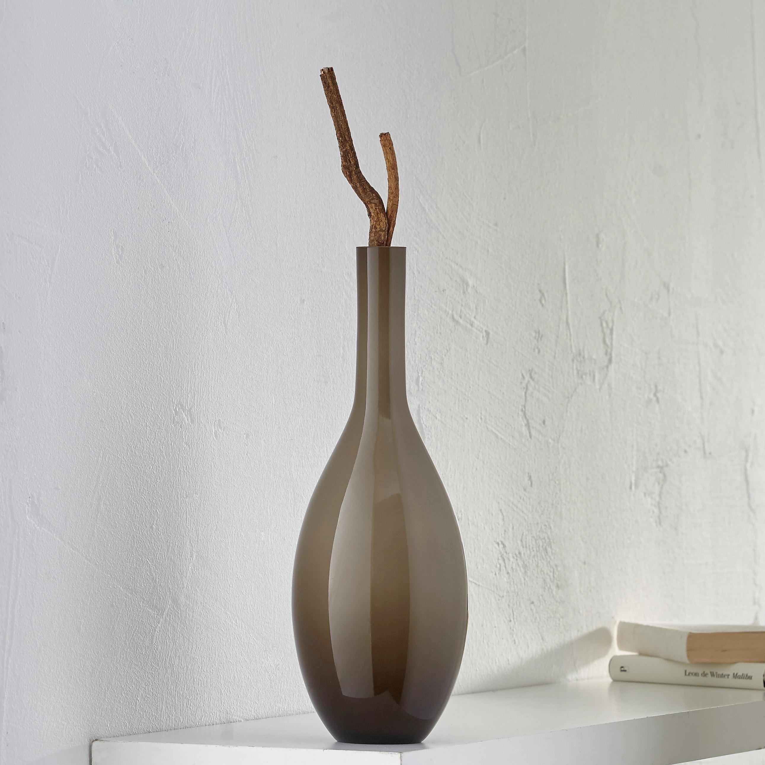 VASE 39 cm - Beige, Design, Glas (14/39cm) - LEONARDO