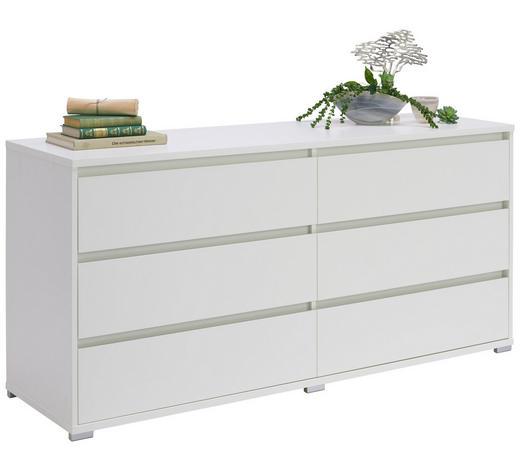 KOMMODE 160/79/48 cm - Alufarben/Weiß, Design, Holzwerkstoff/Kunststoff (160/79/48cm) - Carryhome