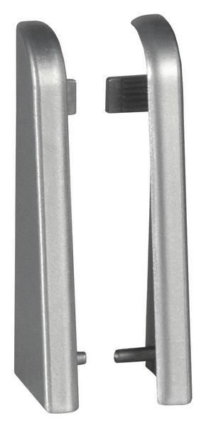 ÄNDSTYCKE TILL SOCKELLIST - silver, Basics, plast (-/2.02/5.92cm)