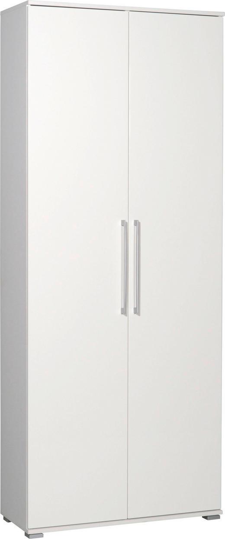 SCHUHSCHRANK Hochglanz Weiß - Alufarben/Weiß, Design, Metall (80/197/34cm)