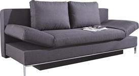SCHLAFSOFA Anthrazit - Chromfarben/Anthrazit, Design, Kunststoff/Textil (203/83/90cm) - Novel