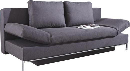 SCHLAFSOFA Anthrazit - Chromfarben/Anthrazit, Design, Kunststoff/Textil (203/83/90cm) - NOVEL