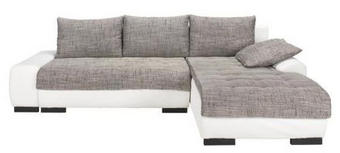 WOHNLANDSCHAFT in Grau, Weiß Textil - Wengefarben/Weiß, Design, Holz/Textil (278/198cm) - CARRYHOME