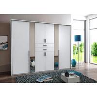 KLEIDERSCHRANK in Weiß  - Alufarben/Weiß, KONVENTIONELL, Glas/Holzwerkstoff (270/210/58cm) - Carryhome