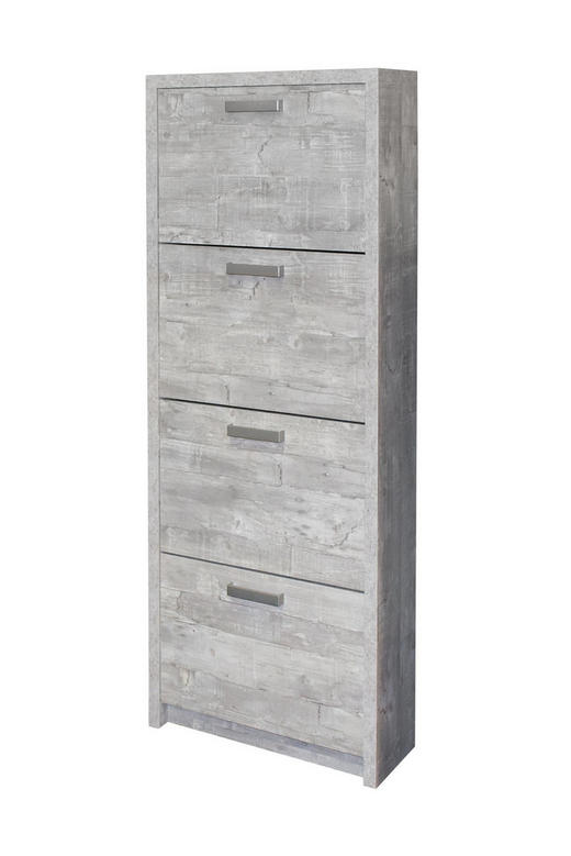 SCHUHKIPPER Grau - Alufarben/Grau, Basics (64/164/24cm) - Carryhome