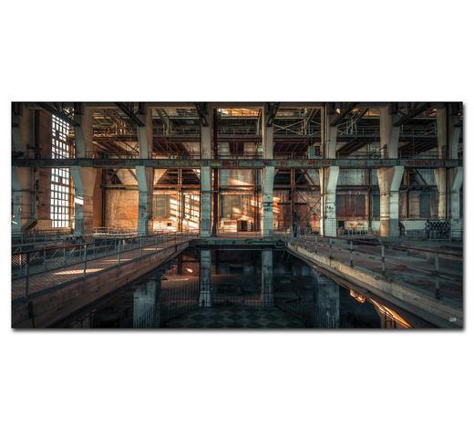 "Architektur BILD ""THE DARK IN NEED OF LIGHT""  - Multicolor, Basics, Holzwerkstoff/Kunststoff (200/100cm) - Wiedemann"
