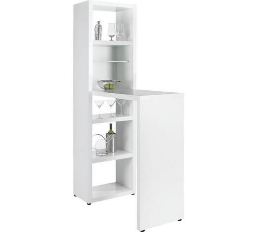 BARSKI STOL - bijela, Design, drvni materijal (59/202/115cm) - Xora