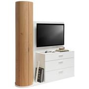 TV-ELEMENT 171,9/202,4/47,5 cm - Eichefarben/Alufarben, Design, Holz/Holzwerkstoff (171,9/202,4/47,5cm) - Ambiente by Hülsta