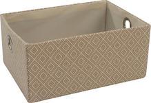 REGALKORB 35/25/16 cm  - Beige, Trend, Karton/Textil (35/25/16cm) - Landscape