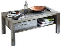 COUCHTISCH in Holzwerkstoff 113/60/47 cm - Chromfarben/Braun, LIFESTYLE, Holzwerkstoff/Metall (113/60/47cm) - Hom`in