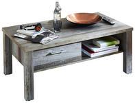 COUCHTISCH in Holzwerkstoff 113/47/60 cm - Chromfarben/Braun, MODERN, Holzwerkstoff/Metall (113/47/60cm) - Hom`in
